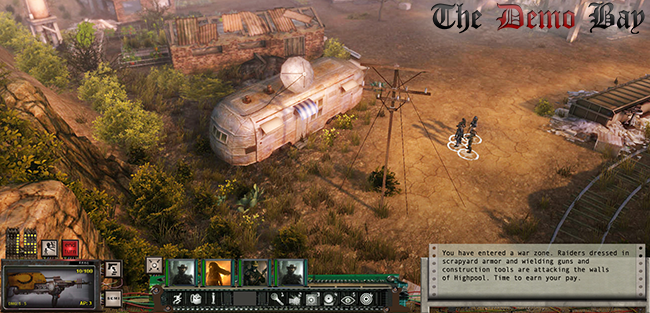 Screenshot from Wasteland 2 which can be played in the demo too!