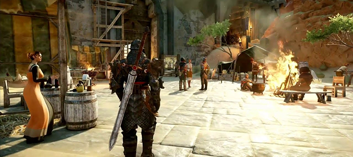 city market view at dragon age inquisition demo