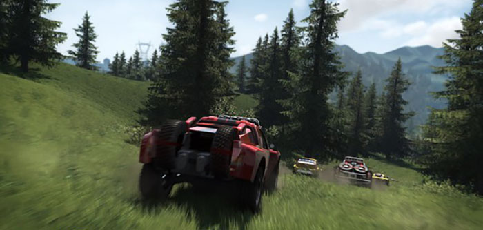 driving in the forest open world the crew racing game