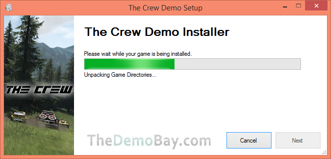 screenshot of the crew demo installer