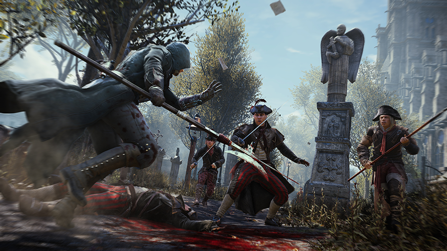 assassins creed unity demo gameplay combat
