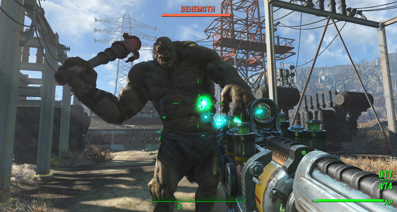 attacked by giant on fallout 4
