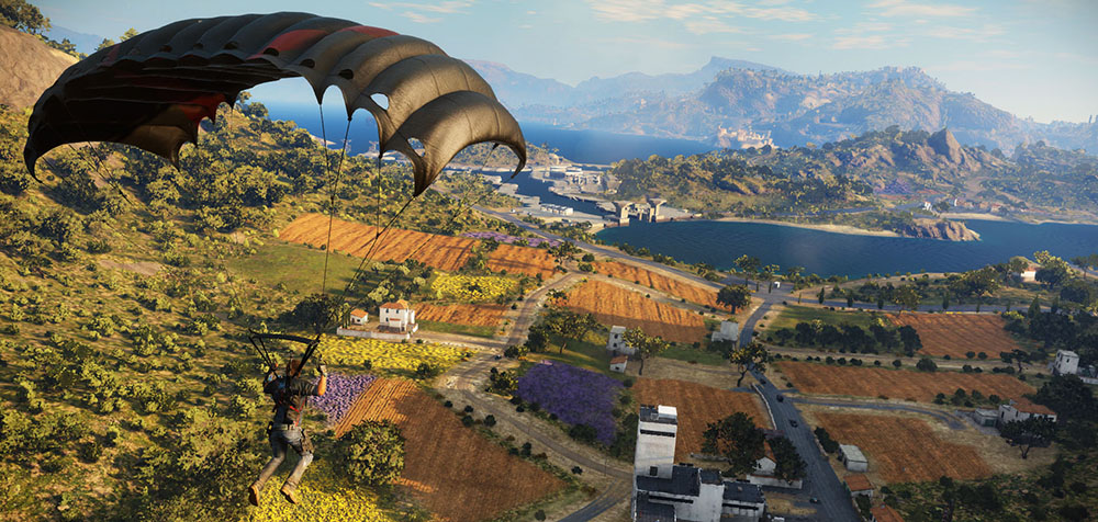 flying a parachute in just cause 3