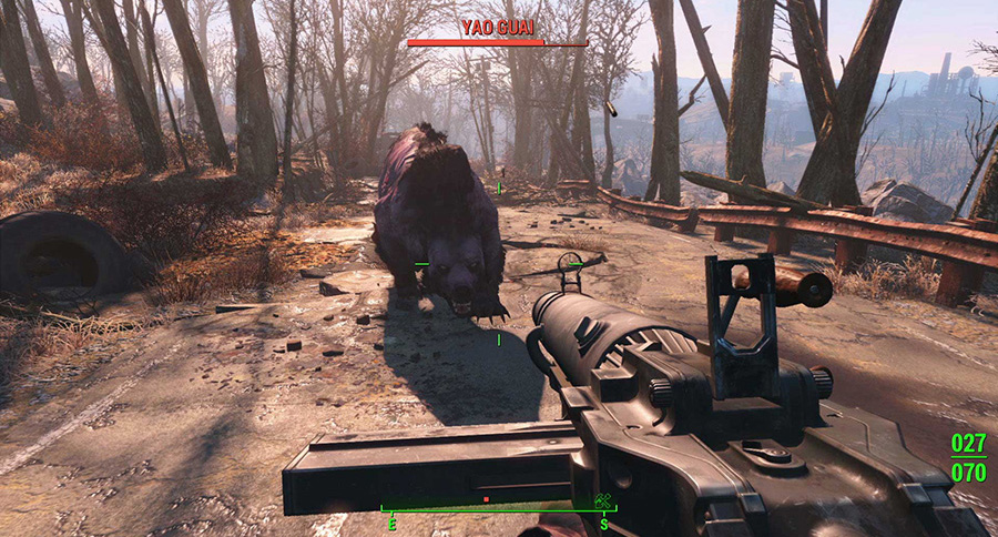 fallout 4 demo action scene attacked by animal
