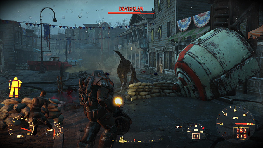 fallout 4 demo attacked by deathclaw scene