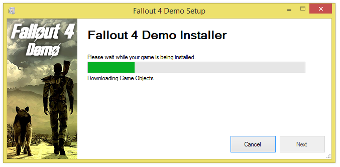 fallout 4 demo installer screenshot